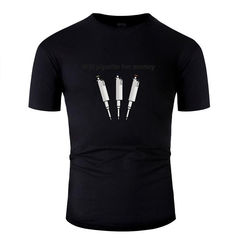 Erstellen Sommer wird Pipette für Geld T-Shirts für Herren aus 100% Baumwolle Graphic-Erwachsen-T Shirts O-Ansatz Camisas Hemd