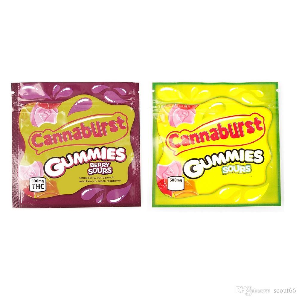 Cannaburst Gummies Souls Mylar 가방 500mg edibles 빈 지퍼 파우치 소매 스토리지 포장 패키지 가방 재고 있음