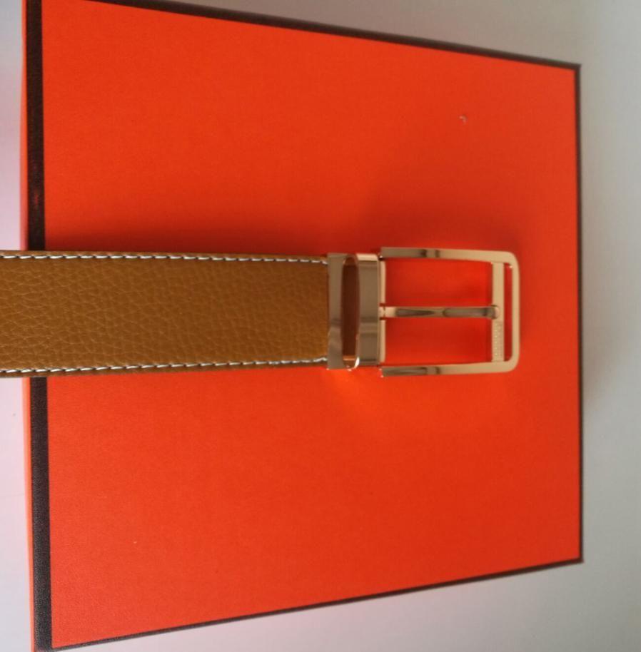 Moda in vita cintura cintura in pelle nero cinture di business donne Big Gold Fibbia da donna Ceinture Classic Casual con scatola arancione 54 123