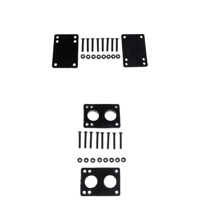스케이트 보드 하드웨어 고무 라이저 패드 스케이트 보드 나사 세트 쉬운 설치 3mm 패드 + 6mm 패드