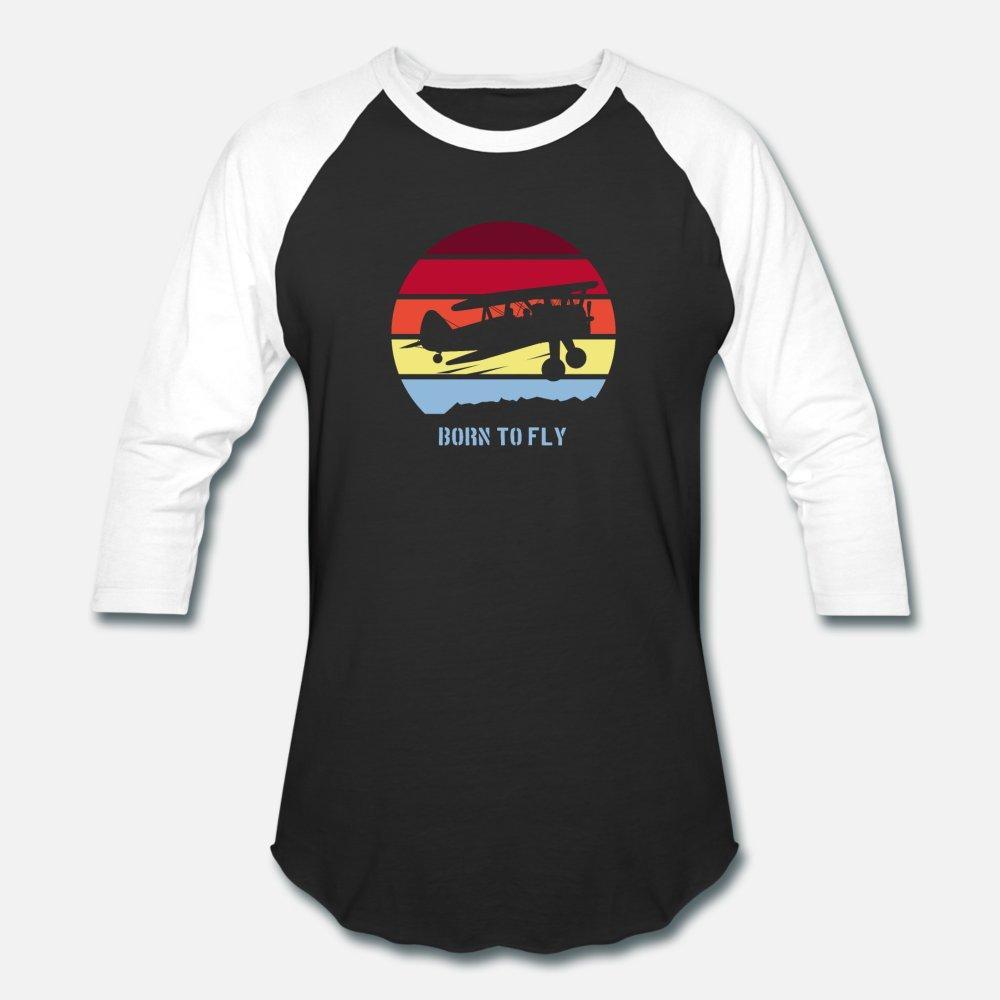 Born To Fly Crop Duster Pilot Vintage Aviation uomini della maglietta Customize 100% cotone O-Collo Gents Interessante camicia costruzione Primavera Autunno