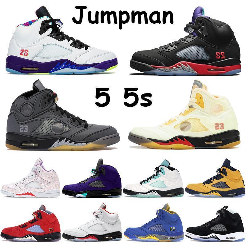 Nike Air Jordan Max Yeezy Jumpman 5 5s tênis de basquete das sapatilhas dos homens Preto Muslin Sail Alternate Bel Top 3 Laney 2013 Páscoa Fire Red prata Tongue Chaussure Tra IUV
