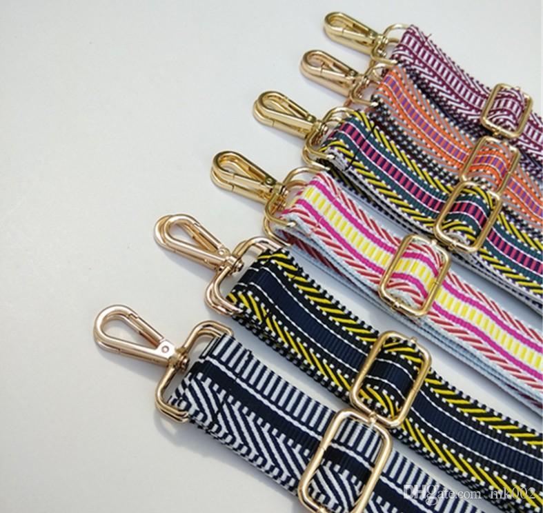 حقيبة جديدة واسعة 3.8CM أزياء النساء الكتف مع الأشرطة الطويلة طول قابل للتعديل الاكسسوارات الكتف عبر الجسم حزام اليد
