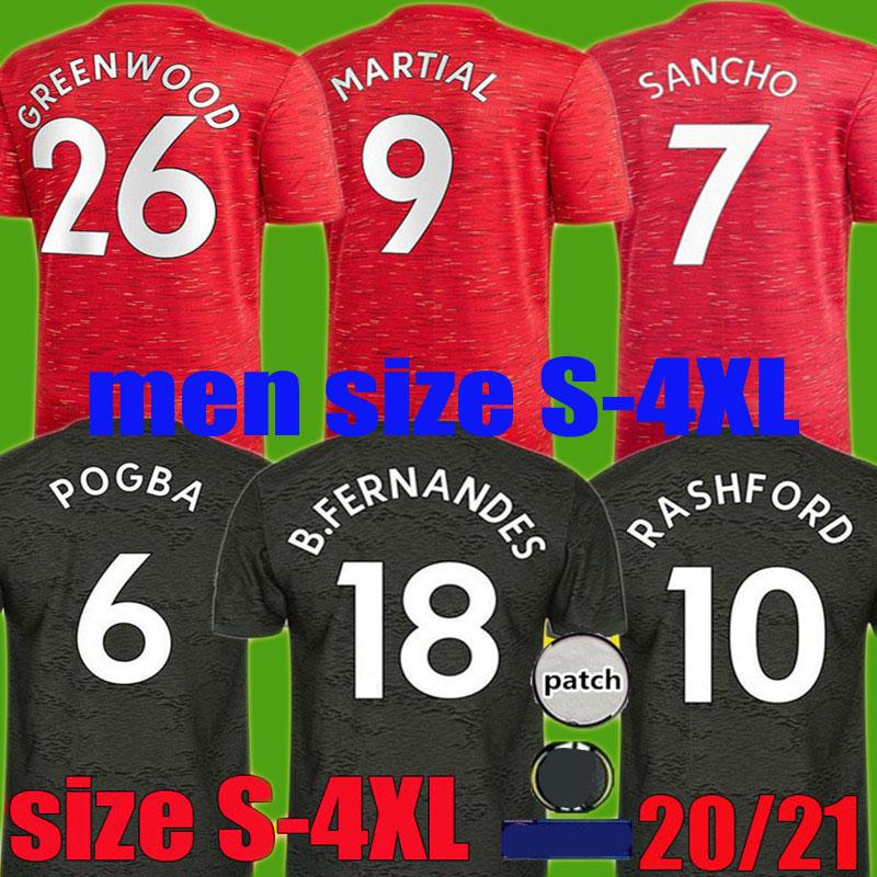 2020 New 2020 Manchester Soccer United Jersey 2021 Home Away 3rd Rashford Fernandes 20 21 Greenwood Sancho Pogba Utd Football Shirt Size S 4xl From Xinying131129 10 25 Dhgate Com