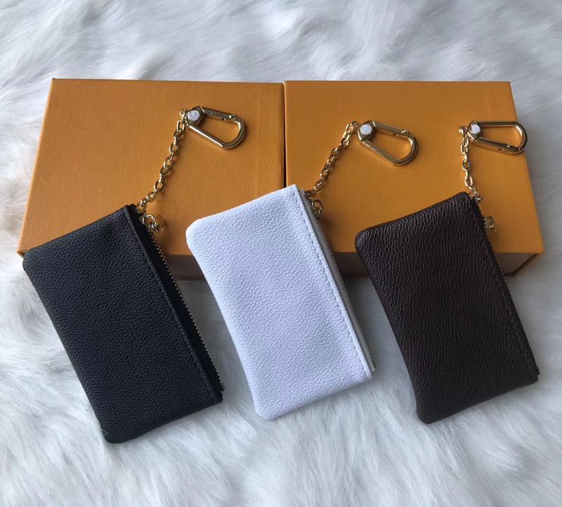 Die Großhandelspreise 4 Farbe KEY POUCH Damier Leder hält qualitativ hochwertige Mode klassischen Frauen Schlüsselhalter Geldbörse Kleinleder Key Wallets