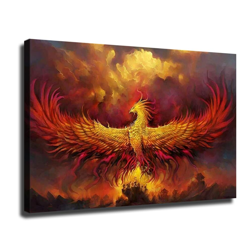 Fantasia Phoenix, Canvas HD Imprimir Início Pintura Decor Art / (Unframed / Framed)
