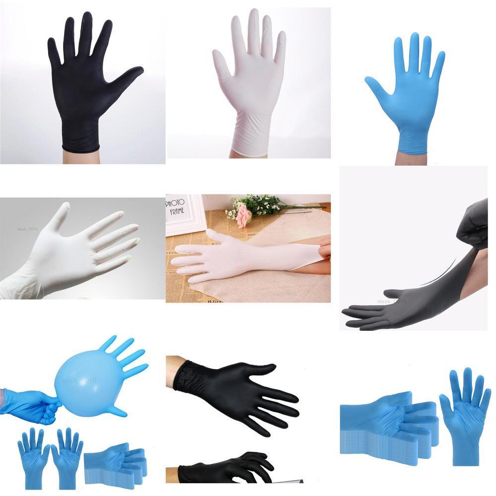 Alergia Azul Negro blanco impermeable Lote de grado alimenticio gratuito desechable Seguridad en el Trabajo 100pcs Nitrinhx MW70