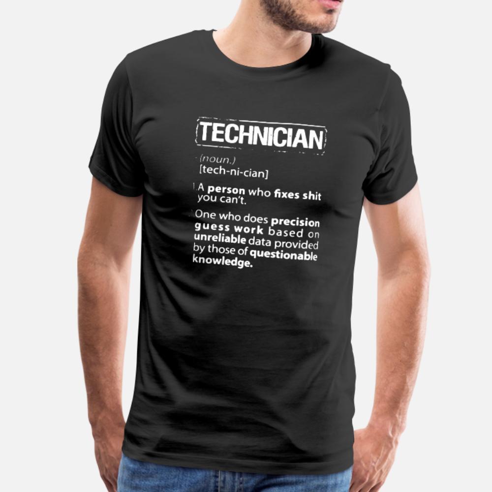 Techniker-T-Shirt Männer Graphic Kurzarm Rundhals Herren Graphic Comical Sommer-dünne