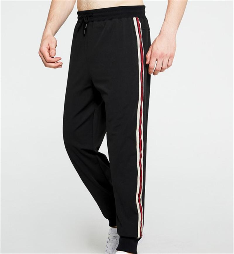 Gerade Hosen Fashion Tasche Patchwork Kordelzug Hose Fitness Mens Sport Mid lange Hosen zufälligen Männer