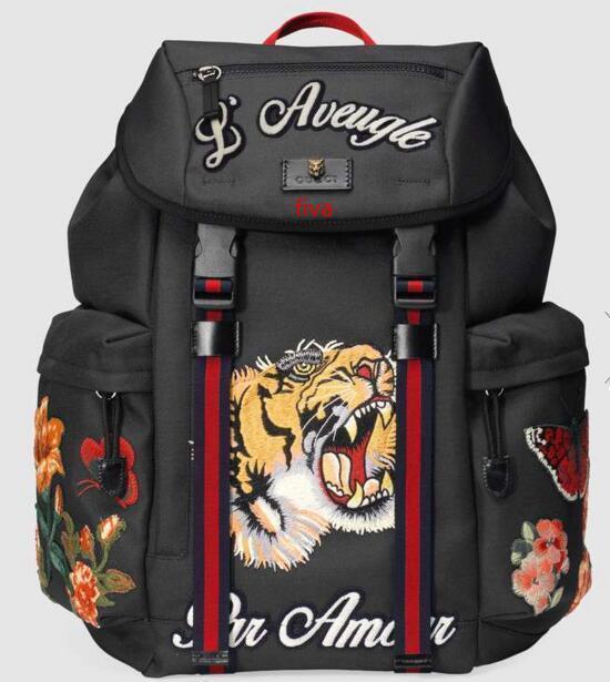 Rucksack mit Stickerei 429.037 Männer Rucksäcke Schultertaschen Totes Handtaschen Top-Griffe Cross Body Messenger Bags