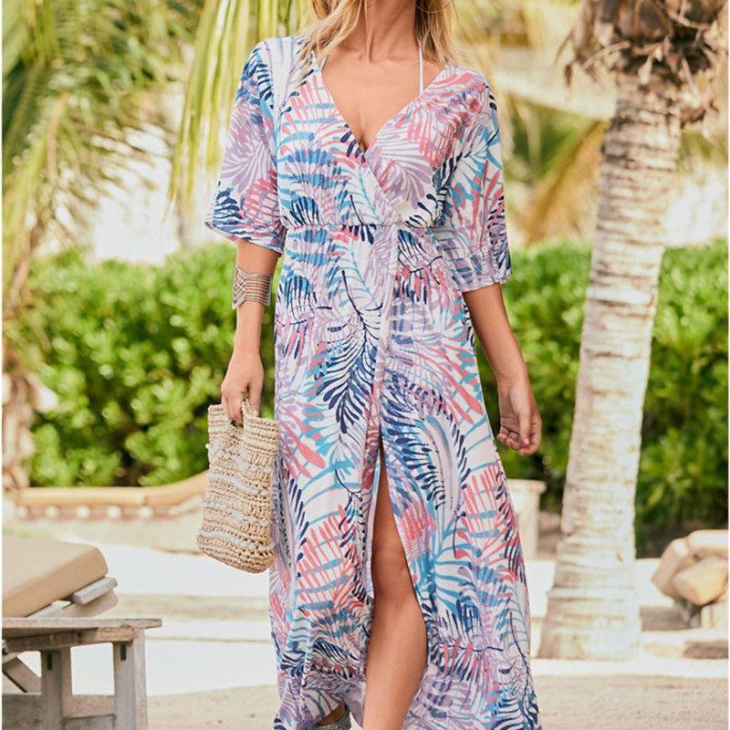 Women Beach Cover Ups Sun Plus Size Swimwear Up Dress Tunic Swimsuits Playa Trendy Swimsuit Womens Swimming Kaftan Swim Ropa