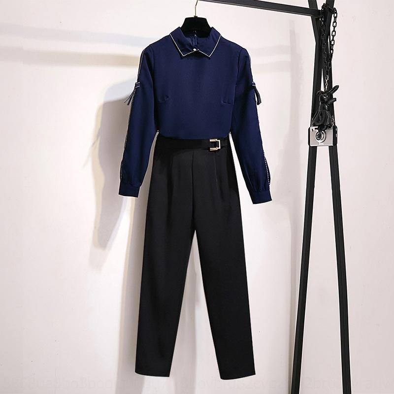 7tVvh 90iH3 Zarif iş kadın takım moda erken 2020 Sonbahar Yeni kraliyet zarif zarif İş iki parçalı kardeş iki parçalı batı-st
