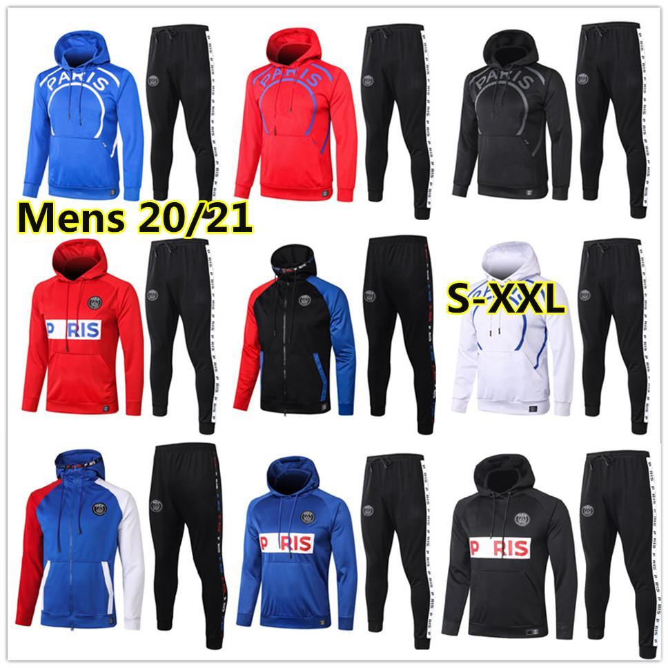 New Mens soccer Hoodie jacket tracksuit 20 21 adults football hoodie jacket survêtement foot chándal de fútbol XXL