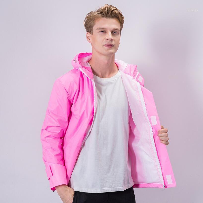 Reflexión manera de la manga del color multi capas deporte al aire libre masculino ropa para hombre de la chaqueta del diseñador Tamaño más largo