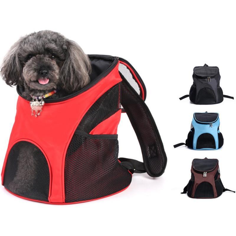 Portador mascota mochila mascota pequeño hombro rejilla y perros suministros transpirable mochila para bolsa portátil viajes medios al aire libre hkctc