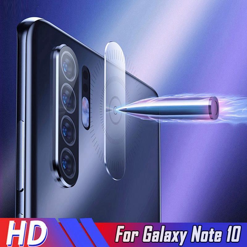 Temepred vidro lente da câmera Protector Para Samsung Galaxy Note 10 10 Plus 8 9 S8 S9 S10 Plus HD Voltar vidro película protetora