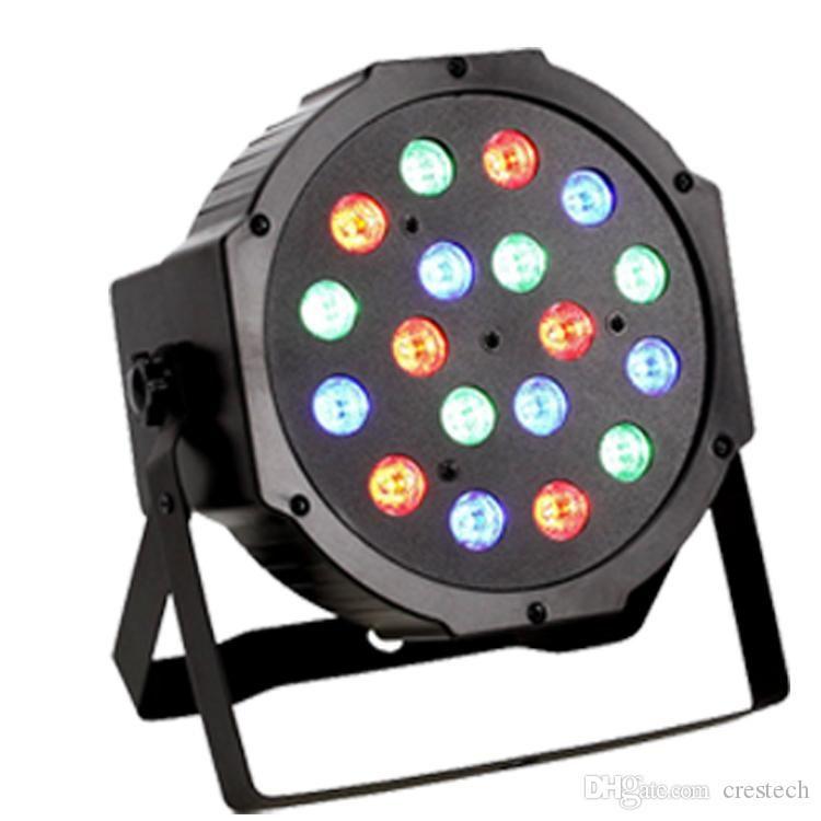 54W 18 * 3W Etapa ilumina-Lighting DMX 512 completa mezcla de colores RGB LED Flat Par Can Rojo Verde Azul mezclar-Lighting danza de la etapa