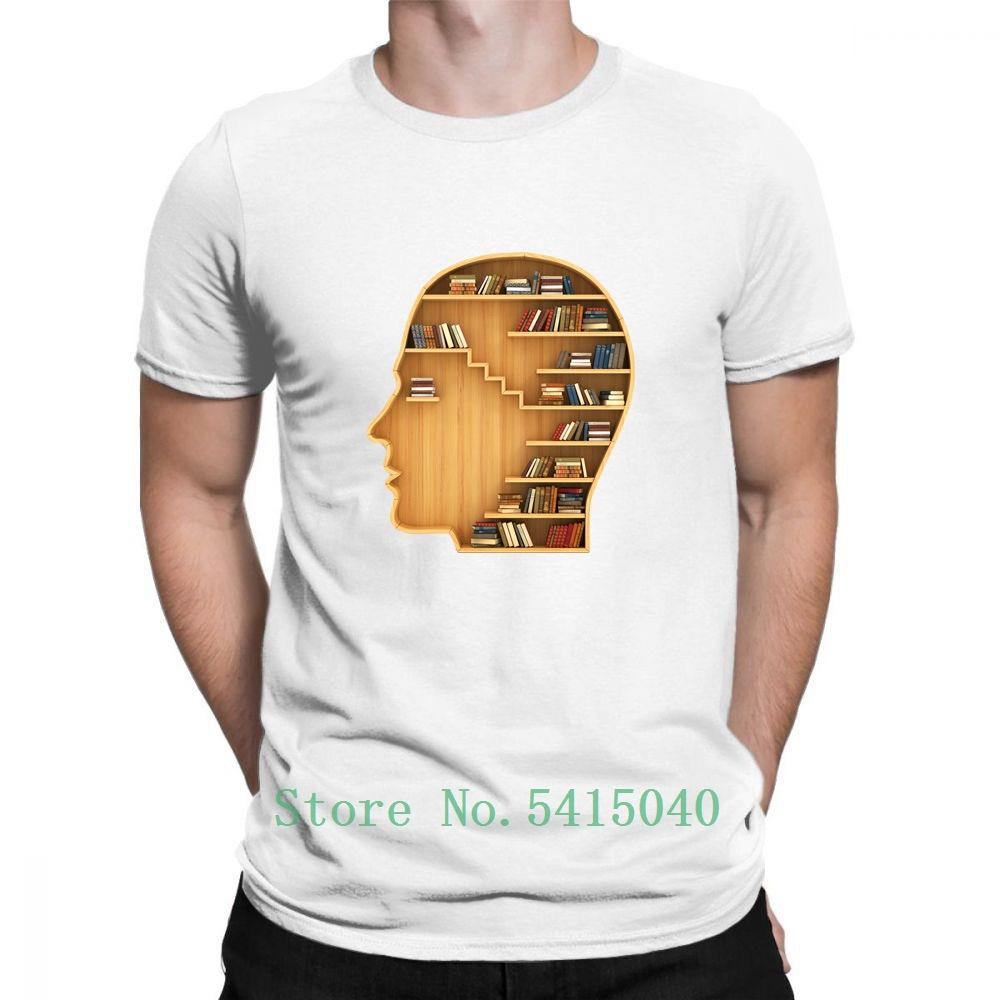 2020 Biblioteca del patrón de lectura del hombre t mierdas Kroean Tapas blancas de Calle cómica de la vendimia caliente Camiseta Mujer Unisex Estética