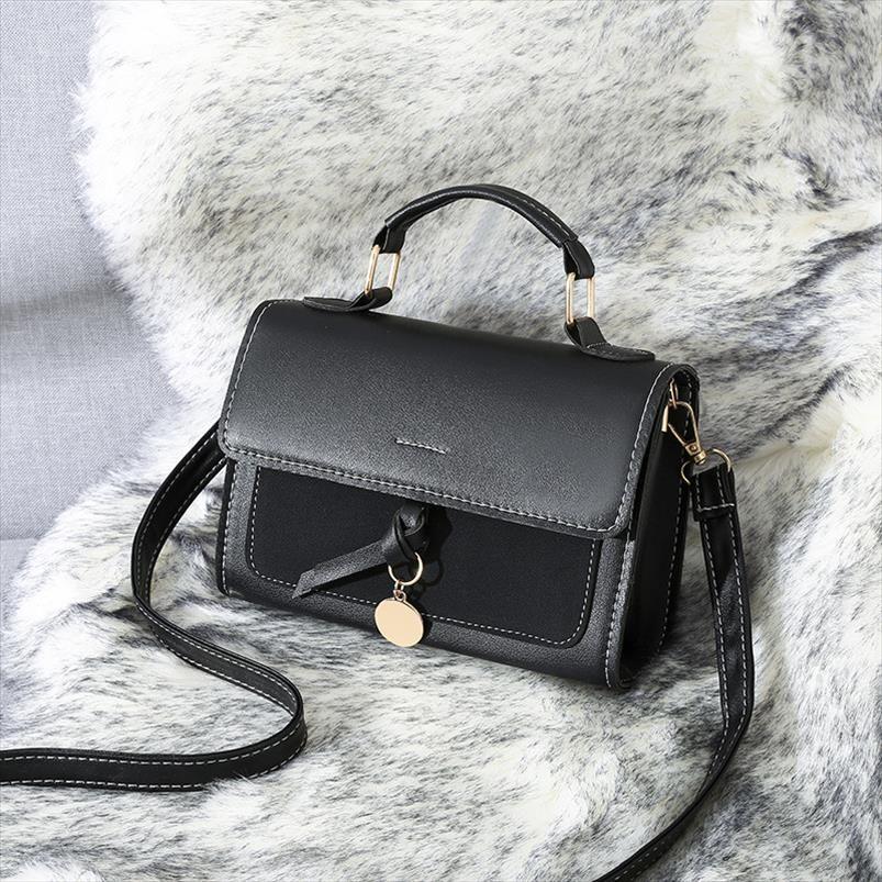 Sacos novos mulheres 2020 Handbag Mulheres Bandoleira Sacos Moda Simples Mulheres Messenger Bags Zipper Shoulder Bag Flap pequeno