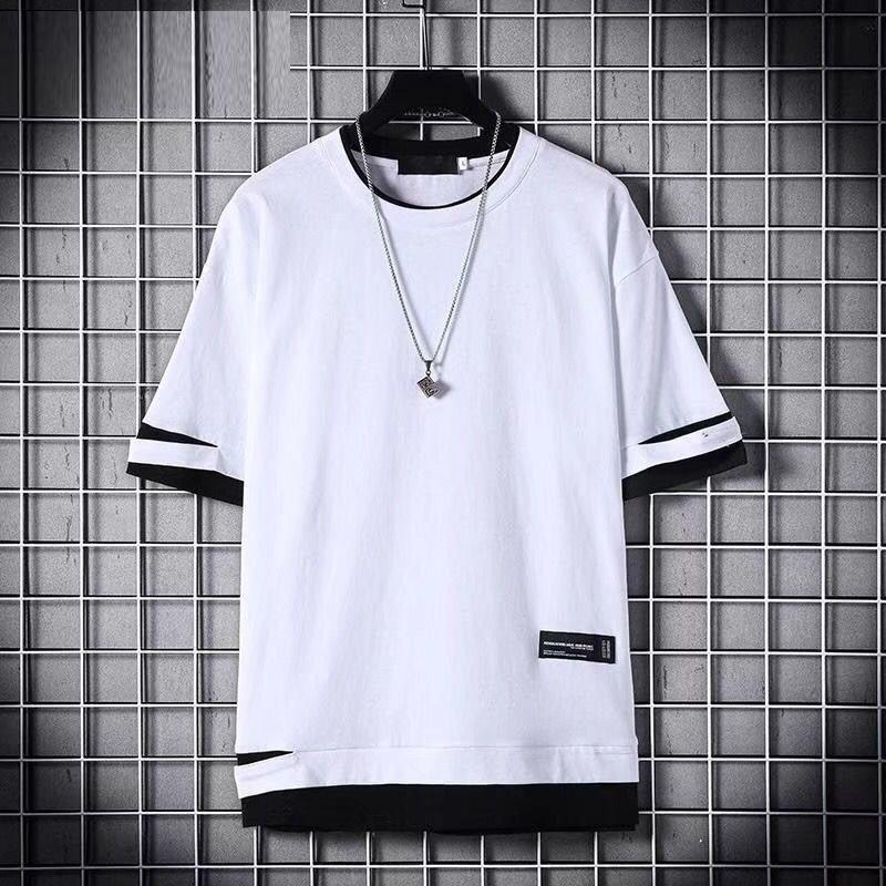 Männer-T-Shirts 2020 Lustige Loch O-Ausschnitt Kurzarm-T-Shirts Sommer-Hip Hop Casual Men Tops Tees Kleidung Street