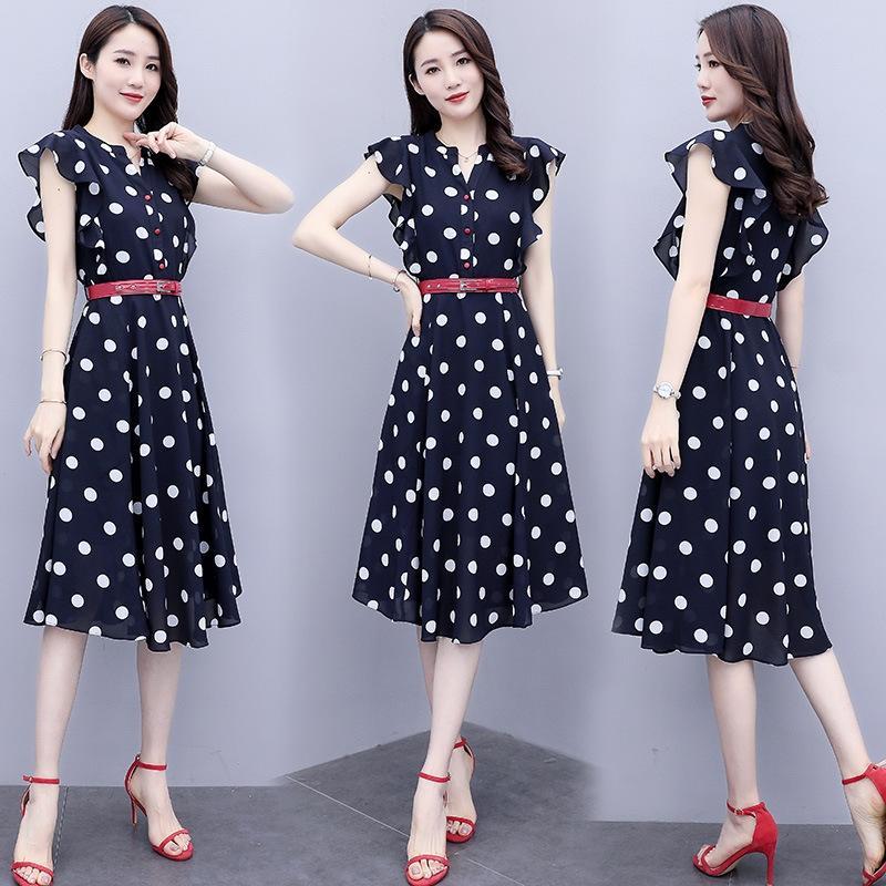 moda personalizado de moda y cómodo del verano 2020 vestido de manga corta vestido suelto y elegante KXrzd