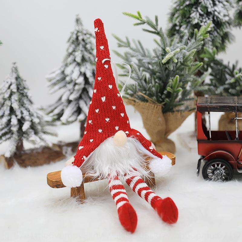 Новые бесстыдный пожилой трикотажный с длинной ножкой лес кукла Светодиодной лампы Рождественской елки кулон Новогоднего украшением кулон dollDoll кукла km75C