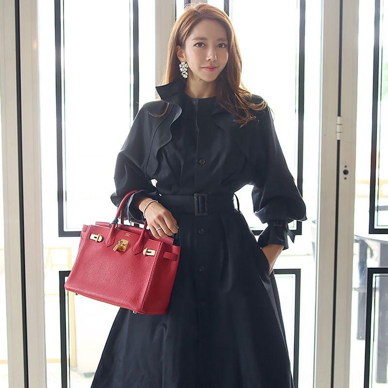 W83WB 12IId britânica corta-vento temperamento de comprimento médio over-the-knee casaco solto 2.019 novos coreano digna outono um estilo chique das mulheres
