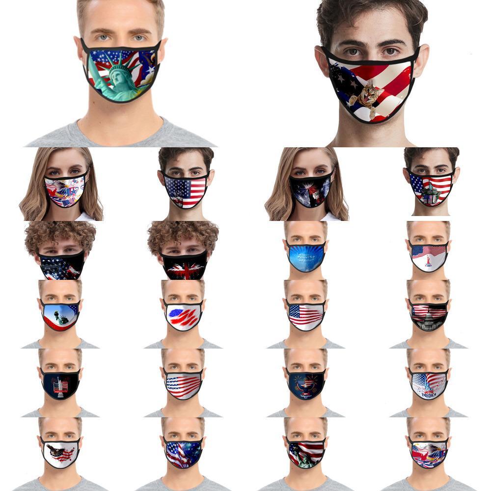 Maschere Valve Cotone Fronte Con Moda 3 strati riutilizzabile lavabile panno Mask Designer Fronte Con 2 GYU5
