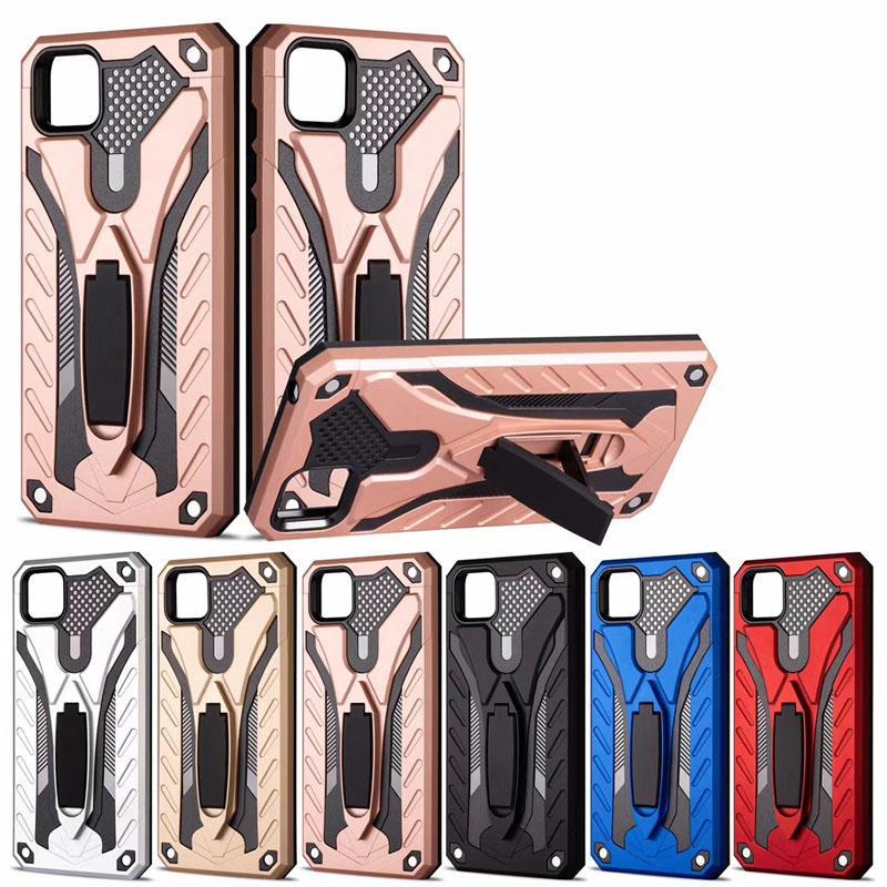 Darbeye Zırh Çubuğu Telefon Kılıfı iPhone 12 Pro maksimum XR 7 8 Telefon Tutucu Anti-Güz Telefon Kapak İçin Samsung S20 Ultra Not 20