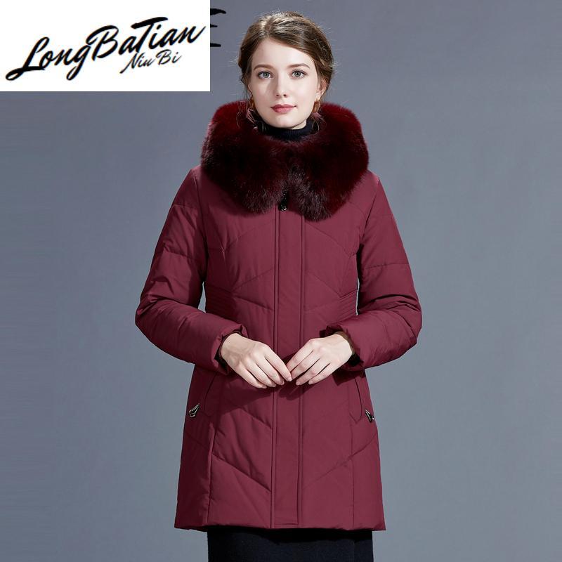 자켓 여성의 겨울 여성 코트 여성 의류 다운 파카 Chaqueta Y204 T200905 오리 2020 두꺼운 따뜻한 진짜 여우 모피 후드