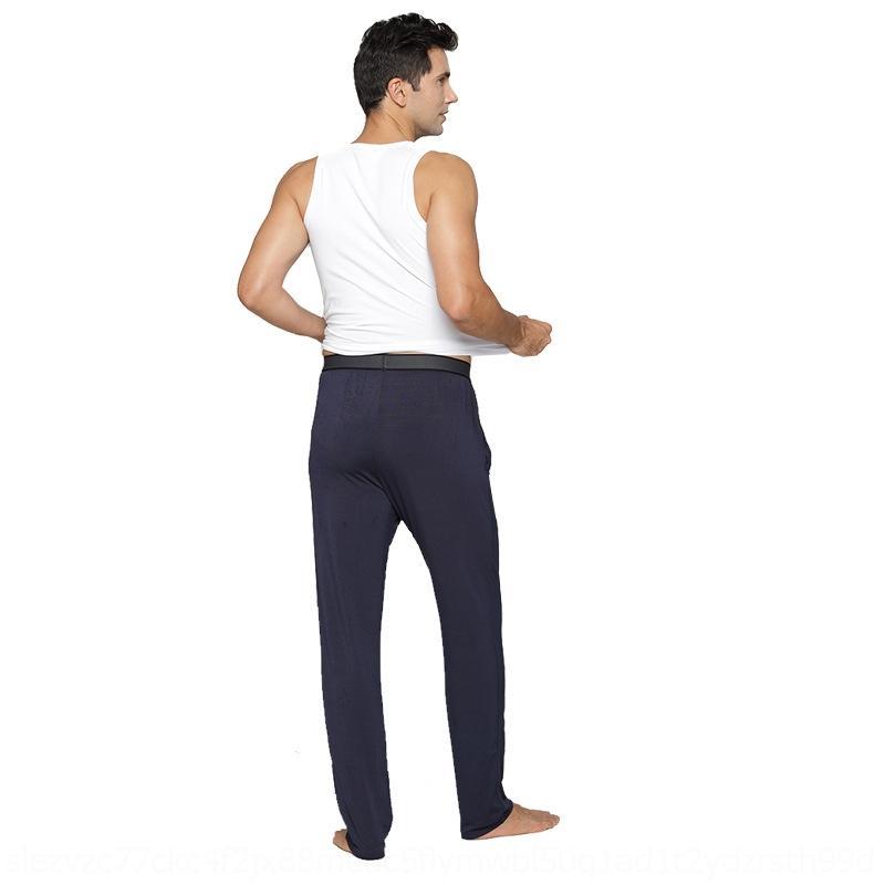 xxJvn RyICa Herbst Herren-Schlaf modal Haus große dünne lose Hosen Fett plus Größe Freizeit Luft Pyjamas Klimaanlage Pyjamas Anlage p