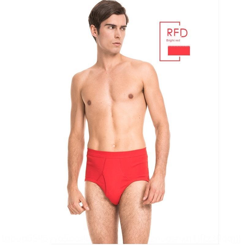 pOqzP hohe Baumwolle und Taille Größe mittleren Alters losen großen Bauch atmungs Slip Unterhose Herren-Unterwäsche Unterwäsche