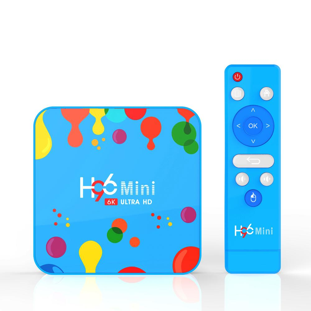 H96 Mini H6 Android 9.0 TV Box With Allwinner 4GB 128GB Streaming Media Player Support 2.4G 5G Dual Band Wifi