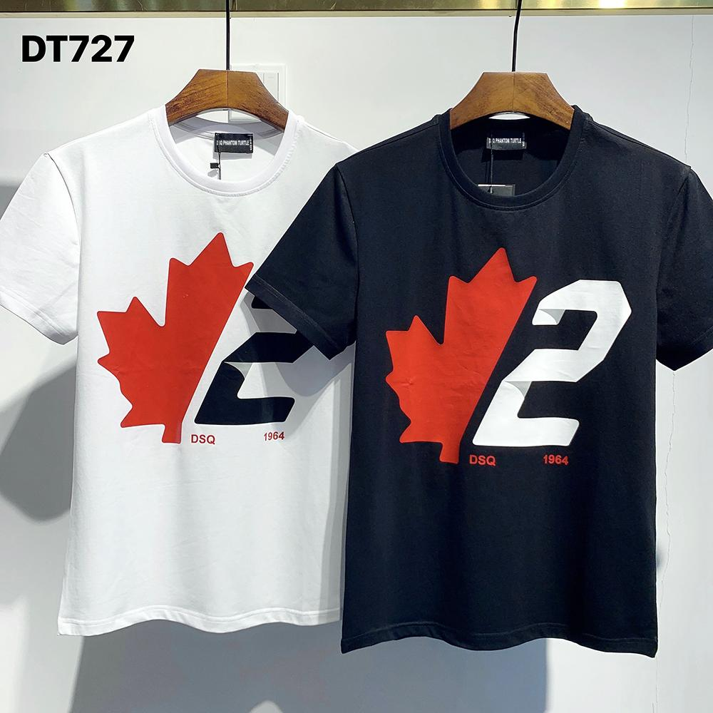 DSQ PHANTOM TURTLE 2020FW New Mens Designer T shirt Italy fashion Tshirts Summer DSQ Pattern T-shirt Male Top Quality 100% Cotton Top 7535
