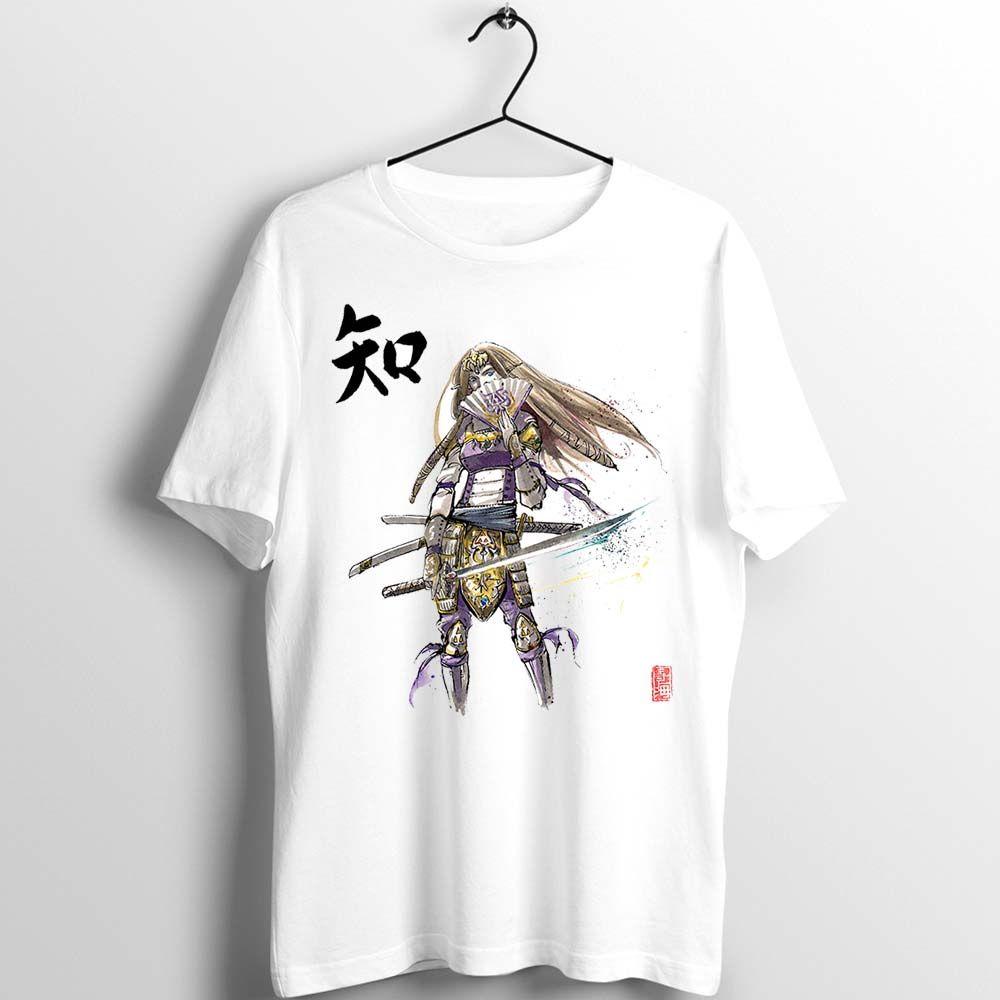 Zelda Samurai Prenses Zelda Bilgelik Suluboya Artwork Sanat Baskılı Tişört Of Unisex Bay Bayan T Shirt Legend