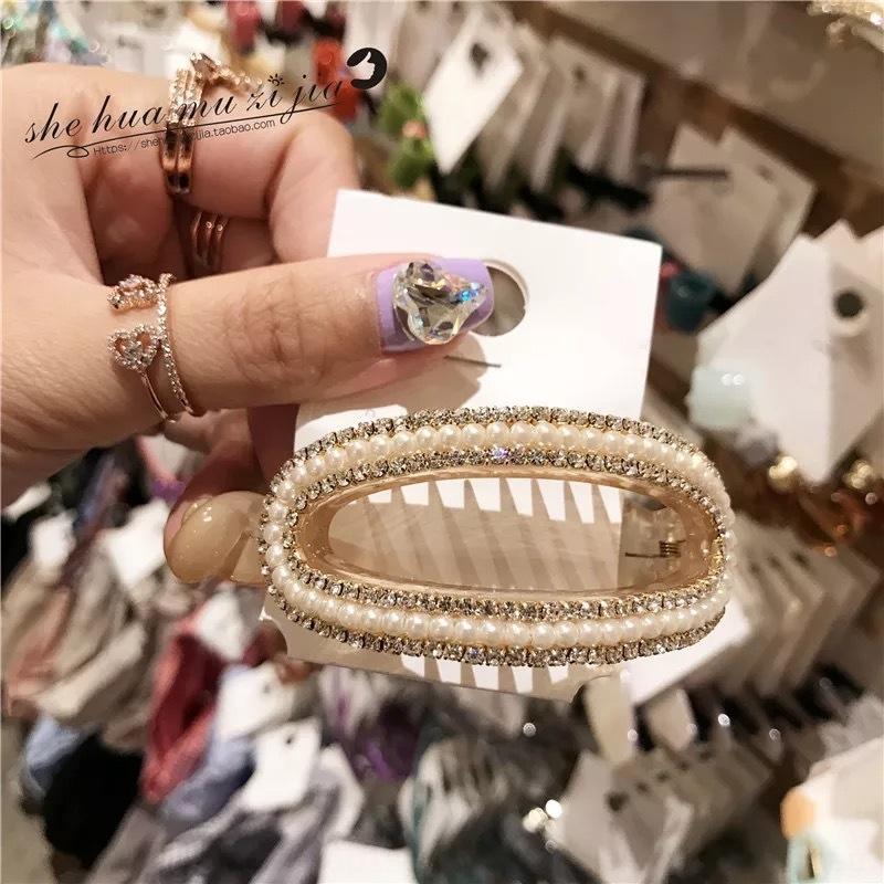 Corea del Sud East Gate Maylee strass nuova perla del Rhinestone copricapo coreano perla di banana clip di stile Banana tornante odEW6
