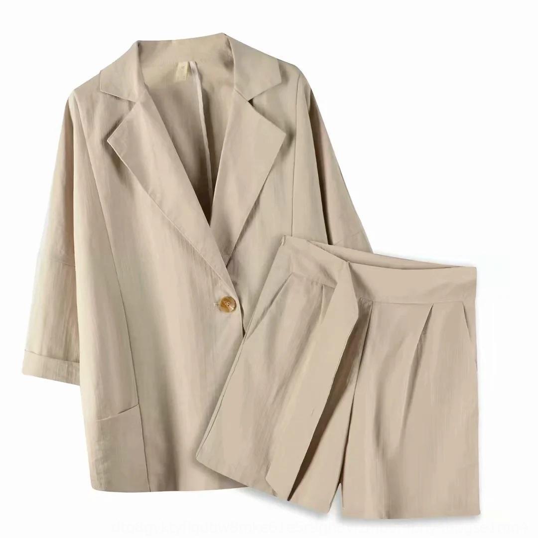 Uqu8t YJZ-200556 şort pantolon yaz ince yeni takım elbise bayan pantolonları + şort takım set