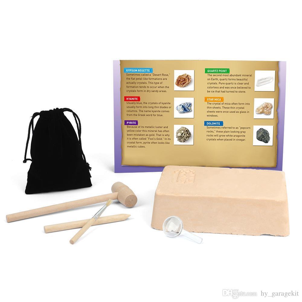 Модель детская игрушка и творческая добыча подарков DIY головоломка ископаемой и каменный кристалл оба мальчик пирита девушка BXAAB