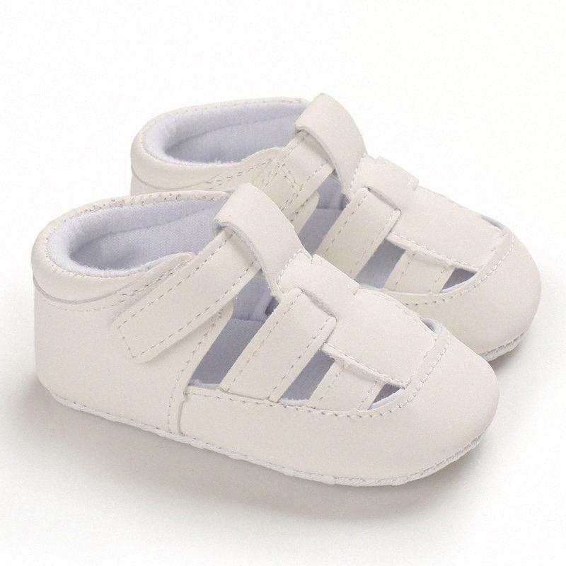 Neonato infante bambino calza Solid Cut-outs Low-top Primi camminatori casuale morbide Neonati maschi Hollow traspirante Flats gKJ6 #