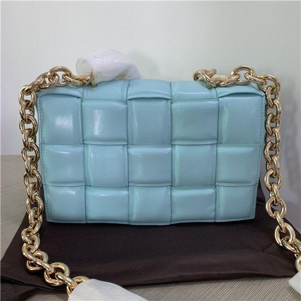 2021 Trend Fashion Semplice catena di lattice intrecciata borsa diagonale per donna con una spalla
