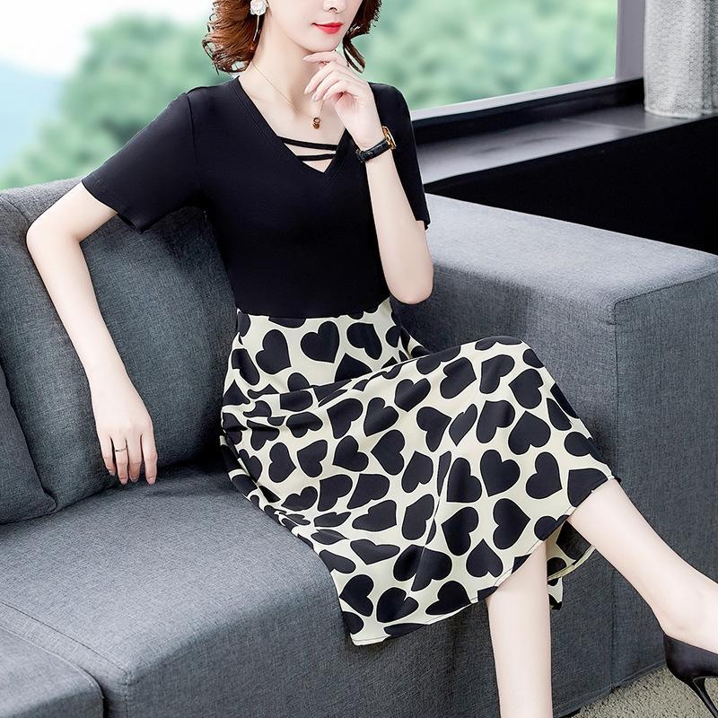 yX4KO grasso Summer Dress donna di grandi dimensioni abbigliamento 2020 sorella mm temperamento di xia francese qun nuova gonna socialite ji dimagrante nuova rusTJ