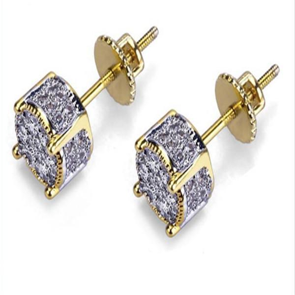 Designer Earrings Luxury Jewelry Fashion Women Mens Earrings Hip Hop Diamond Stud Earings Iced Out Bling CZ Rock Punk Round Wedding g021