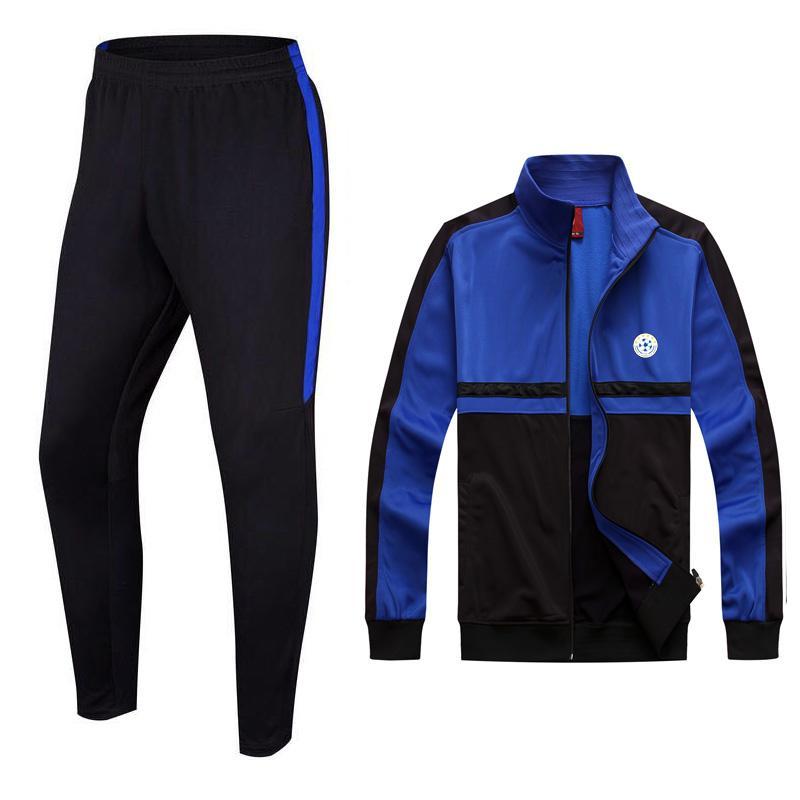 FF Kosovo Футбольный клуб OEM Team Soccer Производство Новая Модель Учебная Куртка Футбольный трексуит с длинным рукавом для мужчин