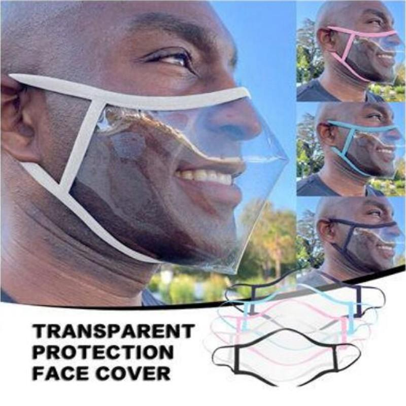 5 colores transparente máscara del labio anti niebla clara protector de cara washale Máscara sordomudo Máscaras de diseño a prueba de polvo visibles mascarilla YYA409 100 piezas