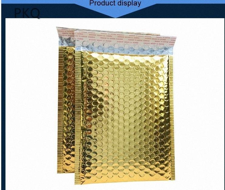 10PCS Speedy Mailers Divulgação ouro Envelope sacos impermeáveis bolsas mensageiro da bolha Mailers acolchoado bolha Envelopes saco acolchoado d2Jf #