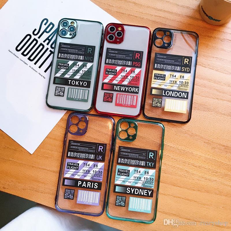 Designer de luxo pele sentir iPhone For Cover Etiqueta 11 X XR XS Max desenhos animados macia iPhone Capa Para 7 8 Plus caso protetor Coque
