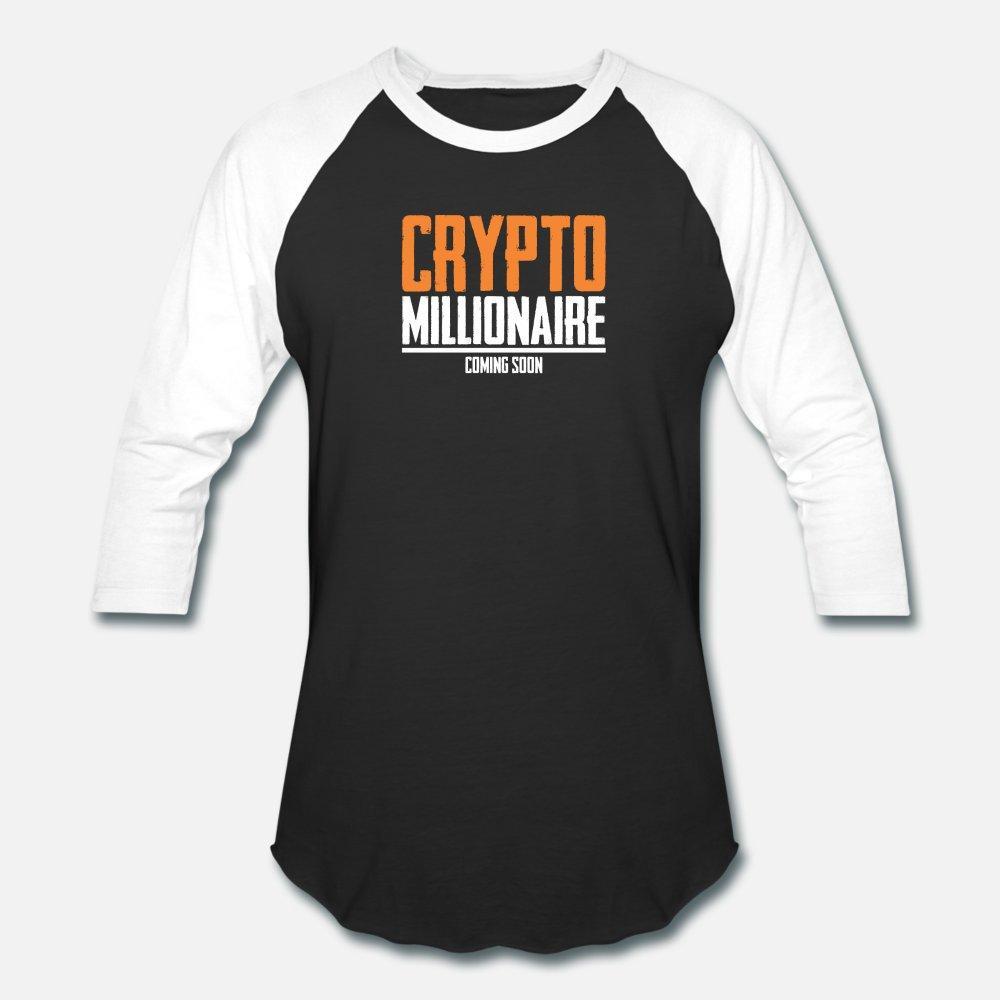 Crypto Blockchain: Crypto Millionaire Coming Soon T-Shirt Männer Gestrickte T-Shirt-Euro-Größe S-3XL Muster Berühmte neue Art und Weise Sommerhemd