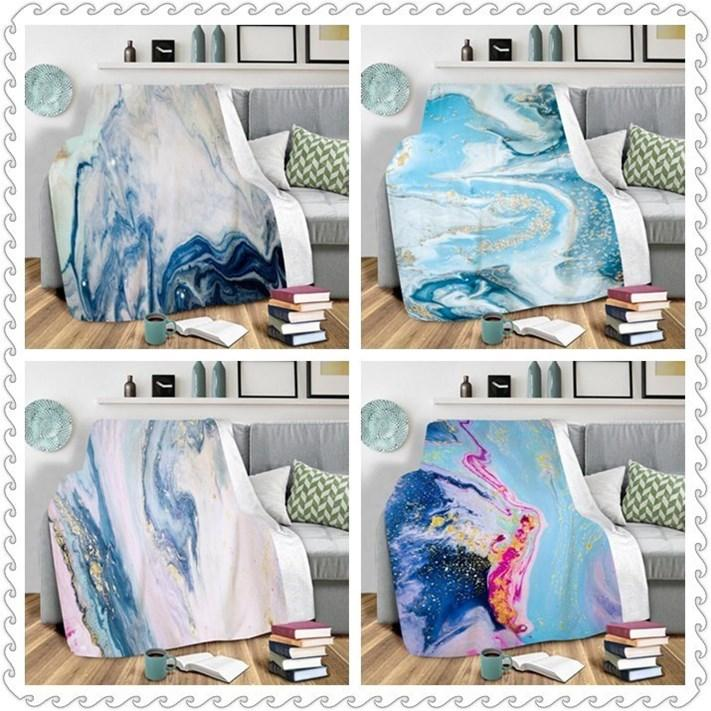 3D Flannel Blankets Romantic Starry Sky Printed Blanket Air Conditioning Blanket Solid Bedspreads Bedding Supplie Make to order WY806Q