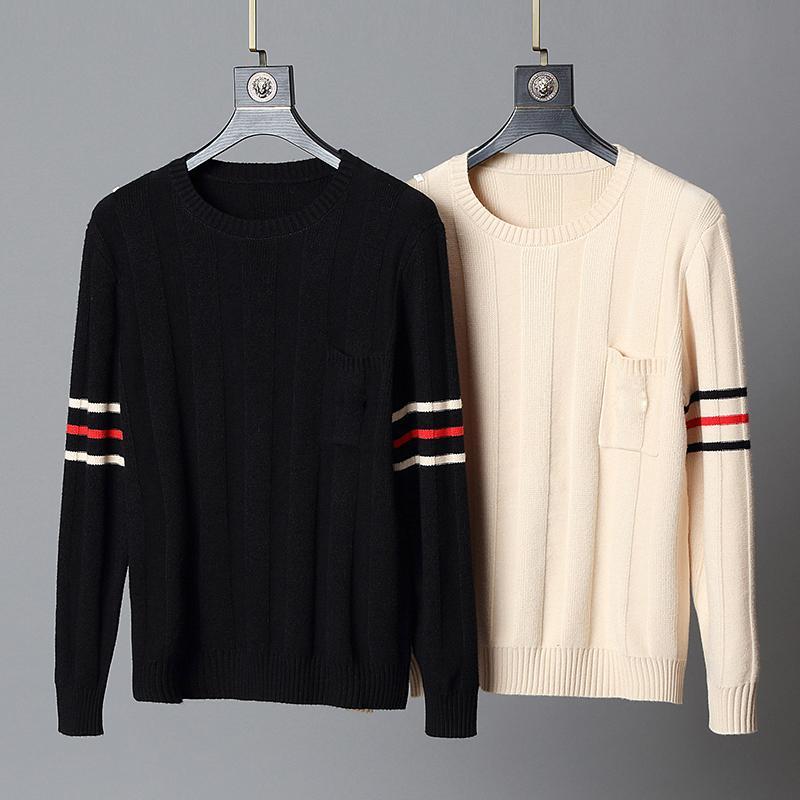 Designer maglioni di lusso uomo abbigliamento di marca superiore della molla di autunno di modo del manicotto lungo del Mens lettera ricamo pullover Sweater Coat ponticello M-3XL