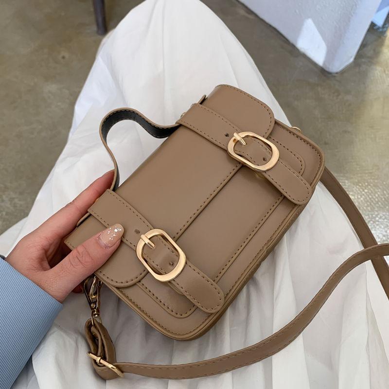 Vintage Femmes petites Sacs à bandoulière Mode PU cuir Mesdames Satchels Messenger Bag Solid Color Femmes Sacs à main et sacs à main fourre-tout